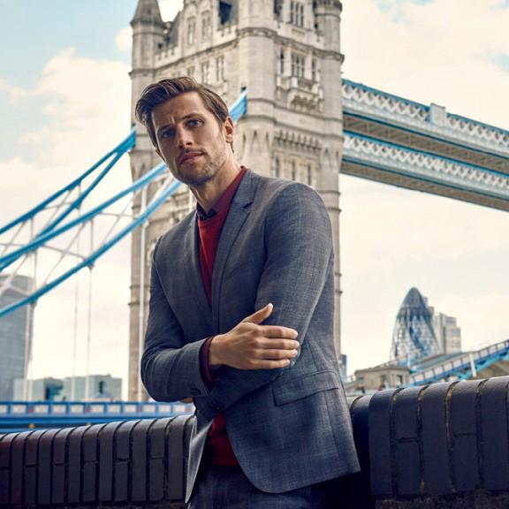 Baptiste at London tower bridge