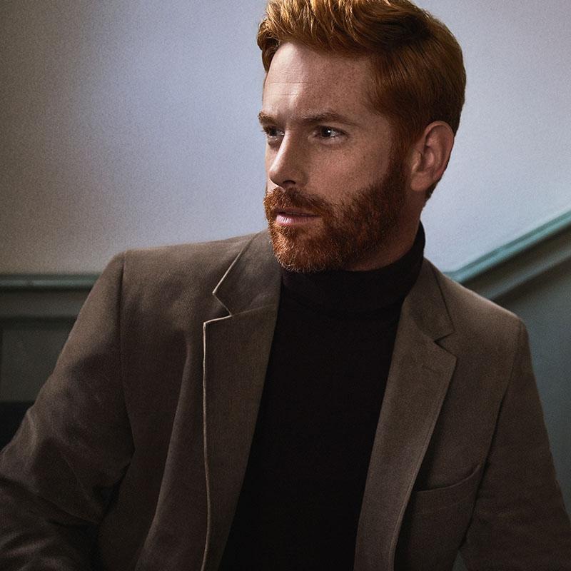 male model wearing cord
