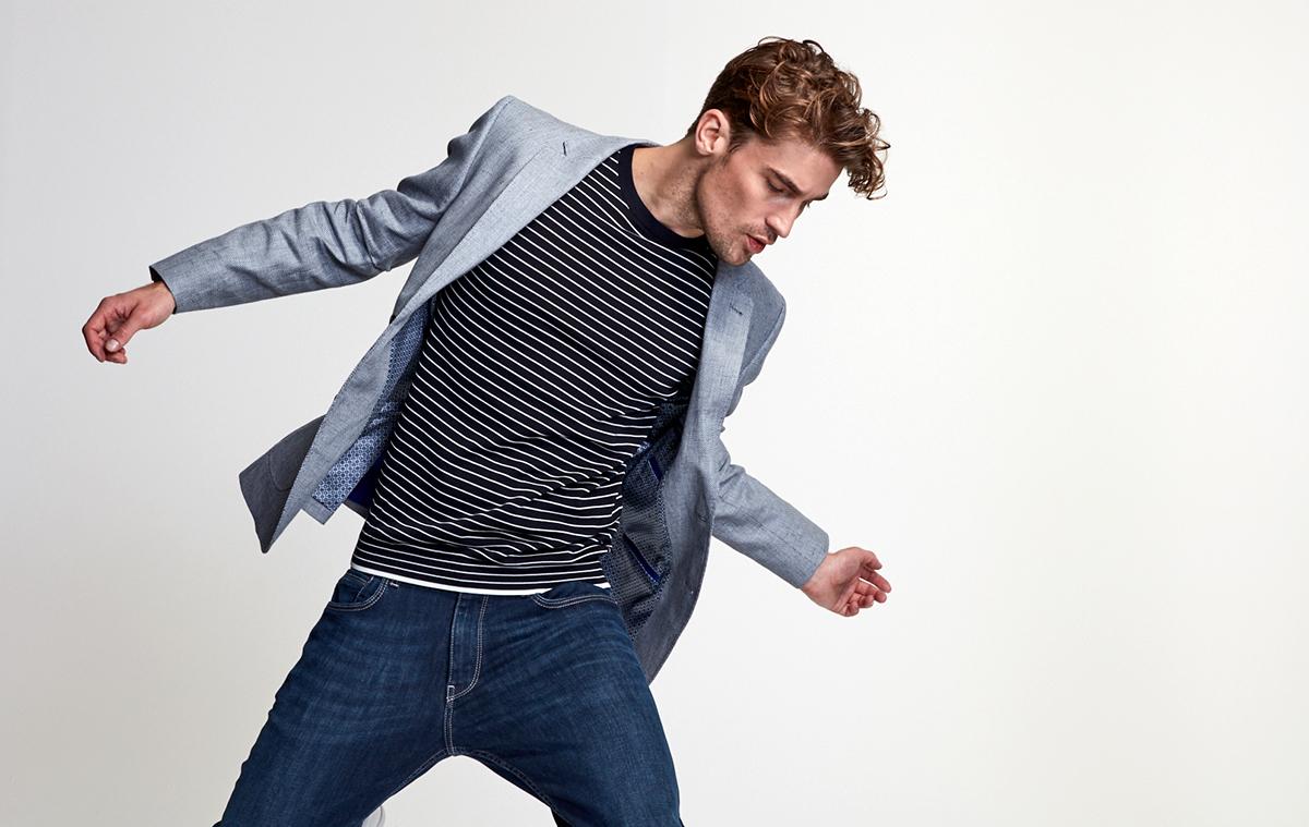 male model in a jacket JJ