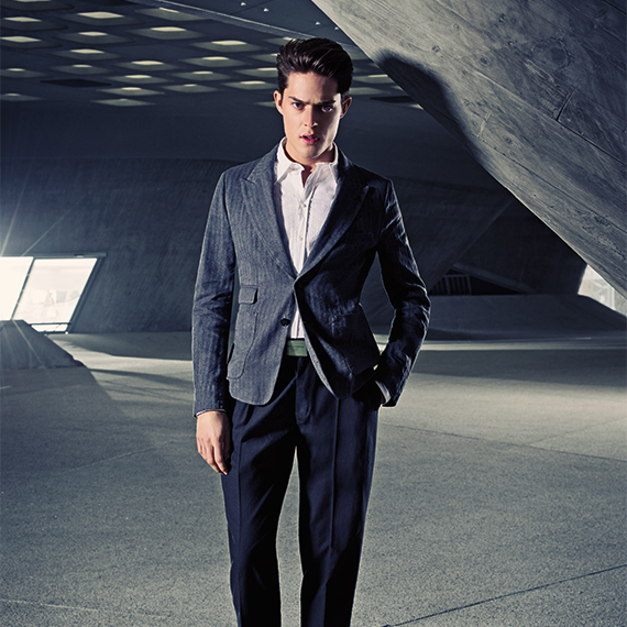 male wearing a Gucci Suit