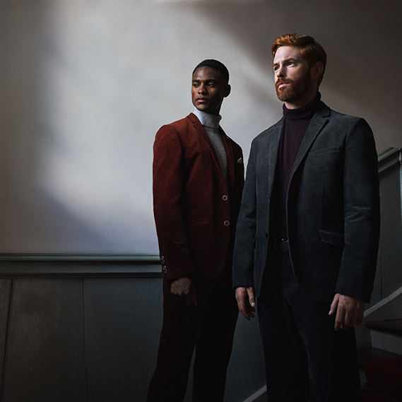 male models wearing a suit