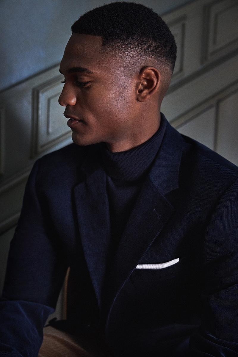 male model wearing a suit